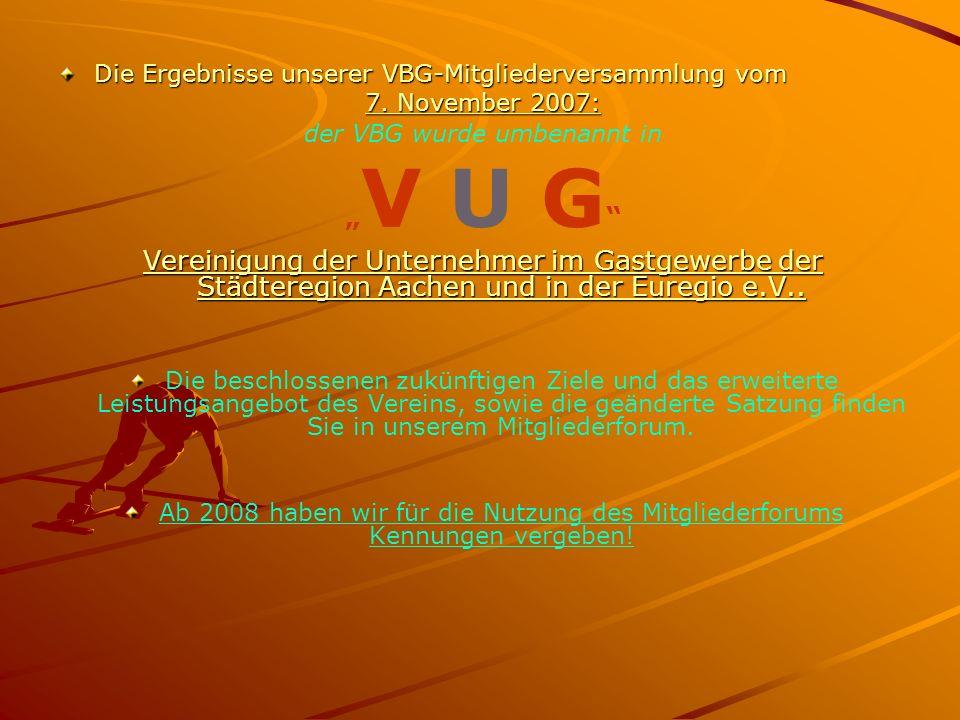 Die Ergebnisse unserer VBG-Mitgliederversammlung vom 7.