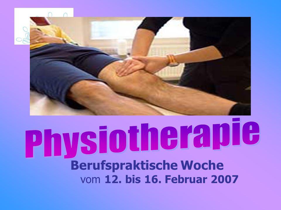 Berufspraktische Woche vom 12. bis 16. Februar 2007