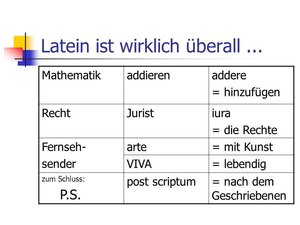 Harry Potter und Latein Lumos (lumen = Licht) Nox (nox = Nacht) Incendio (incendere = anzünden) Amnesia (amnesia = Gedächtnisverlust) Avis (avis = Vogel) etc.
