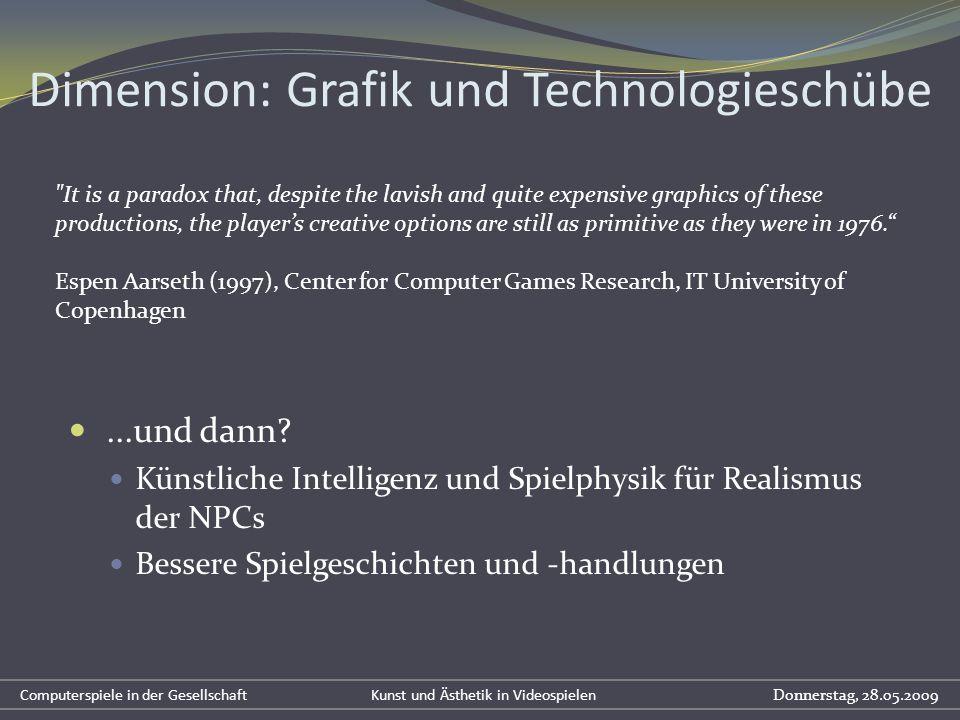 ...und dann? Künstliche Intelligenz und Spielphysik für Realismus der NPCs Bessere Spielgeschichten und -handlungen