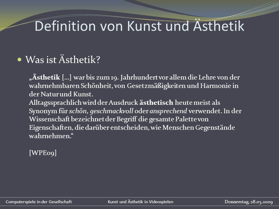 Was ist Ästhetik? Definition von Kunst und Ästhetik Ästhetik […] war bis zum 19. Jahrhundert vor allem die Lehre von der wahrnehmbaren Schönheit, von