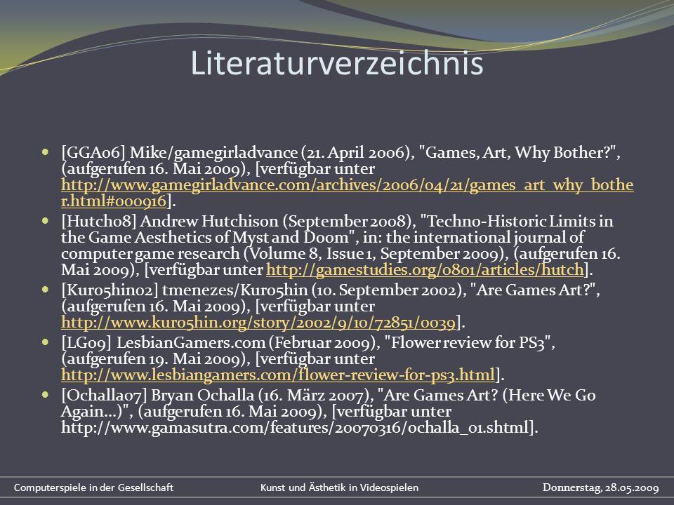 Literaturverzeichnis [GGA06] Mike/gamegirladvance (21. April 2006),