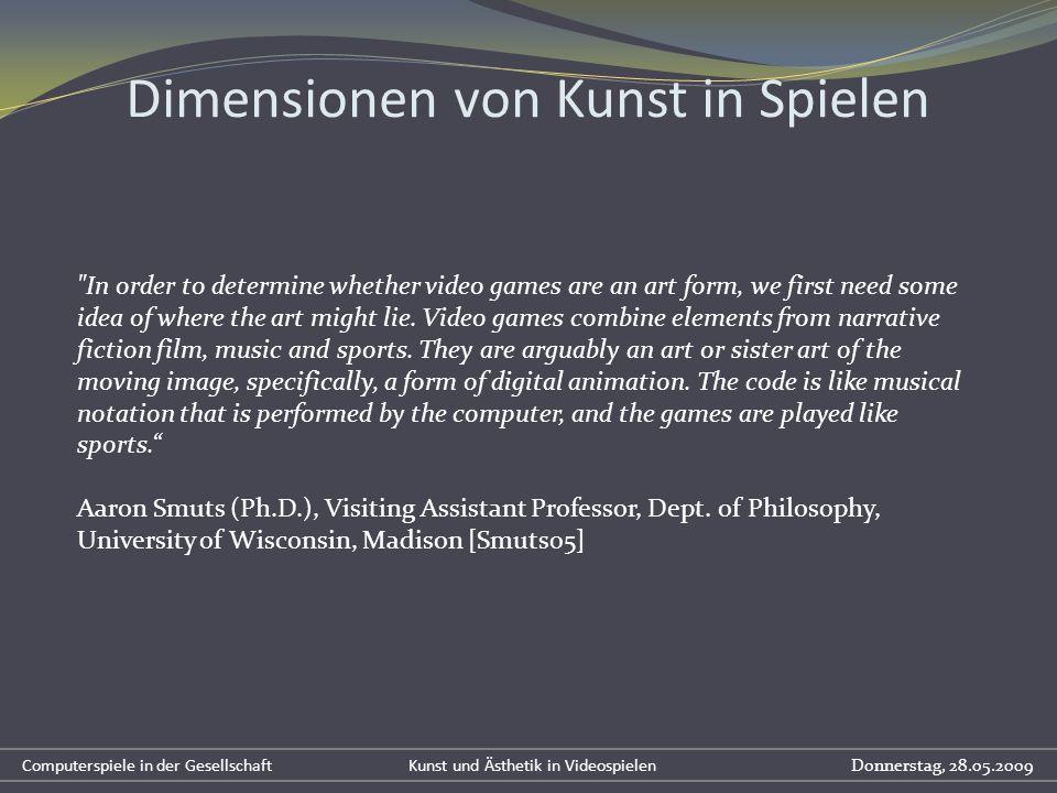 Dimensionen von Kunst in Spielen