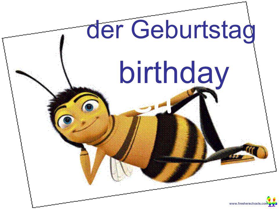 www.fresherschools.com Ben der Geburtstag birthday