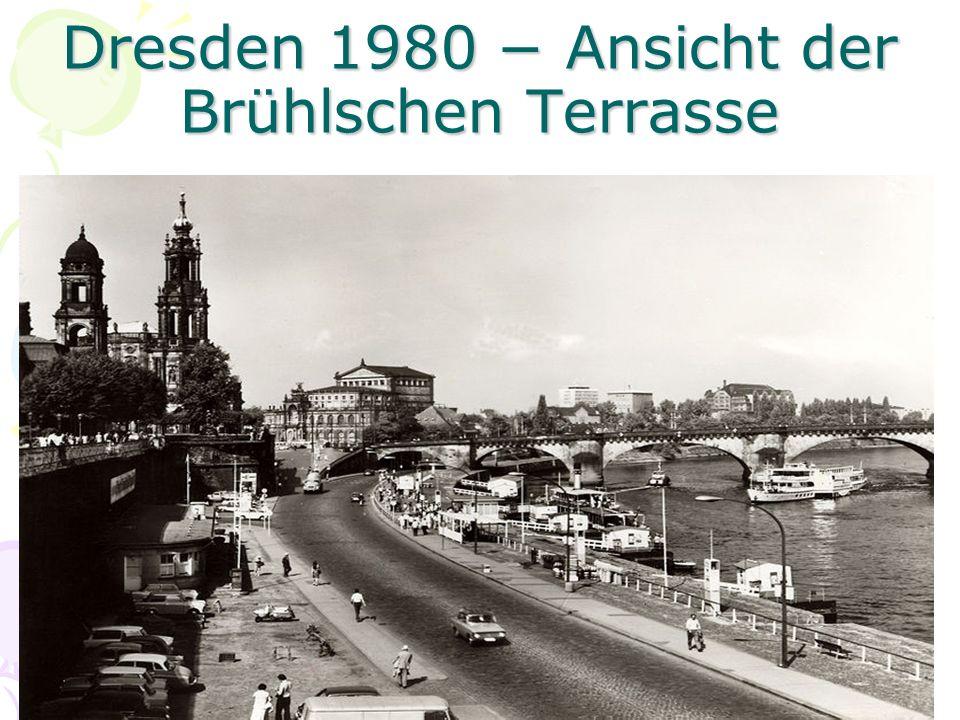 Dresden 1980 Ansicht der Brühlschen Terrasse