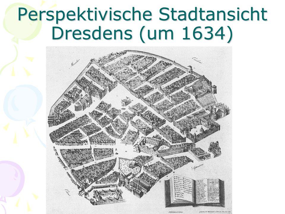 Ansicht von Dresden um 1650