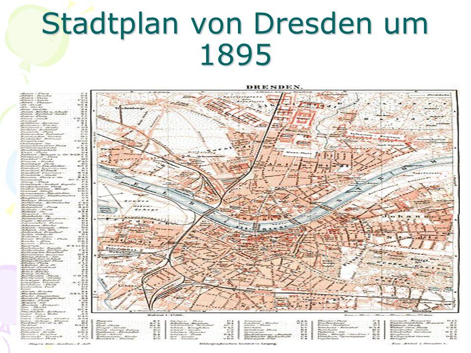 Stadtplan von Dresden um 1895