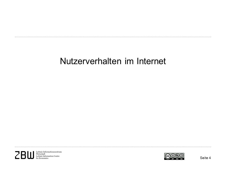 Seite 4 Nutzerverhalten im Internet