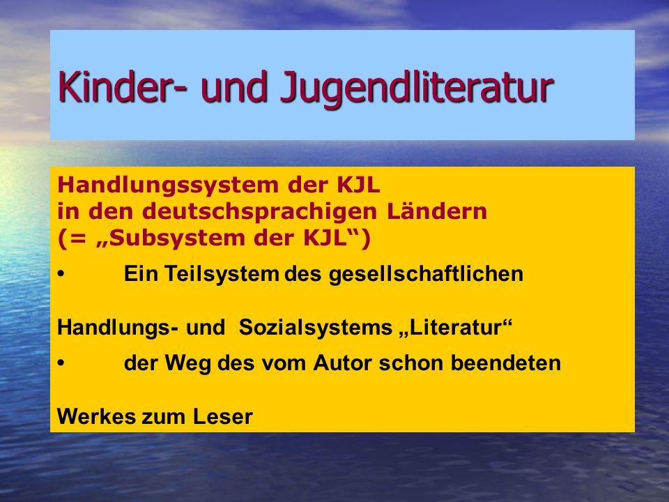 Kinder- und Jugendliteratur Kinder- und Jugendliteratur Symbolsystem der KJL – Ergänzungstexkorpora und ihre terminologische Bezeichnung (H.-H.EWERS) 7.