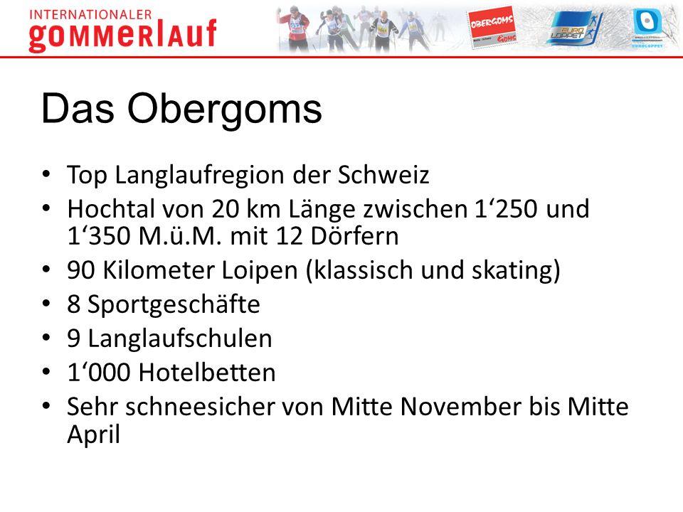 Top Langlaufregion der Schweiz Hochtal von 20 km Länge zwischen 1250 und 1350 M.ü.M. mit 12 Dörfern 90 Kilometer Loipen (klassisch und skating) 8 Spor