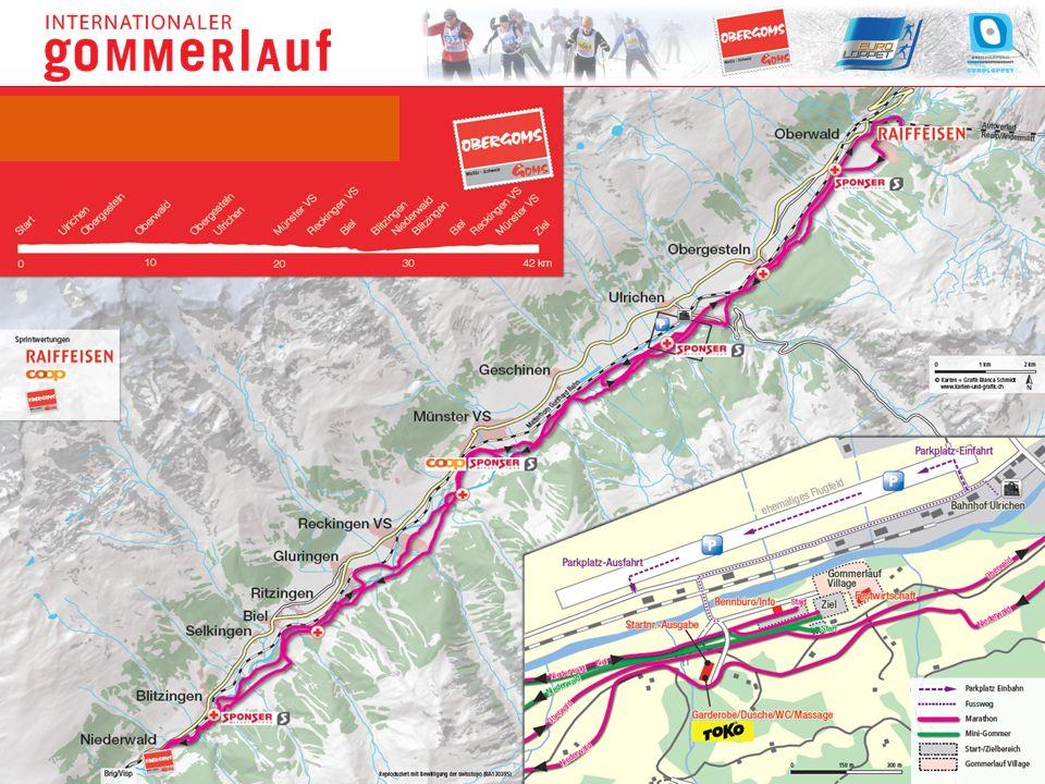 Neben den Rennen gibt es ein umfangreiches und attraktives Rahmenprogramm Die Strecke führt durch sämtliche Dörfer im Obergoms Ersatzdatum 4./5.