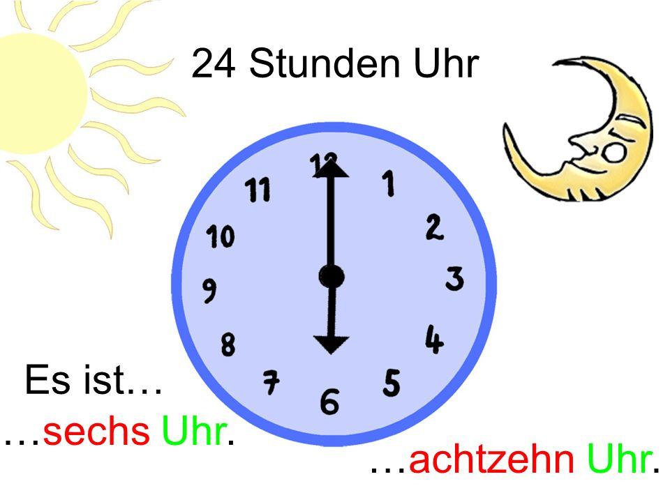Wie spät ist es? Es ist… …zwanzig vor zehn. vor