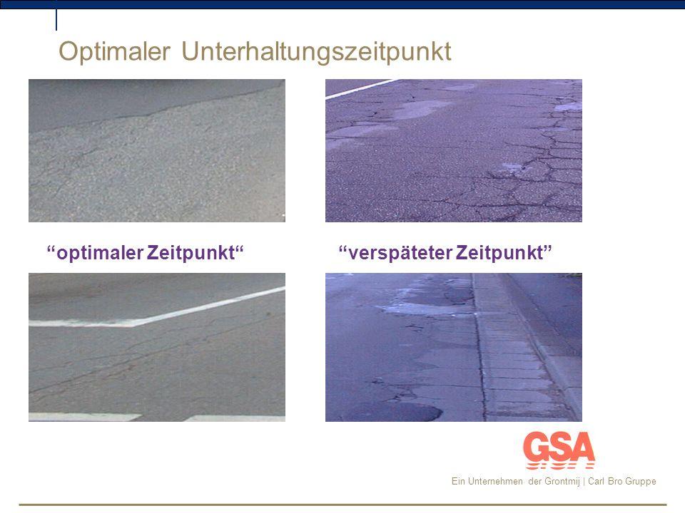Ein Unternehmen der Grontmij | Carl Bro Gruppe Beispiel einer Stadt in NRW: Für das Gesamtstraßennetz von 138 km wurde ein PMS eingeführt.