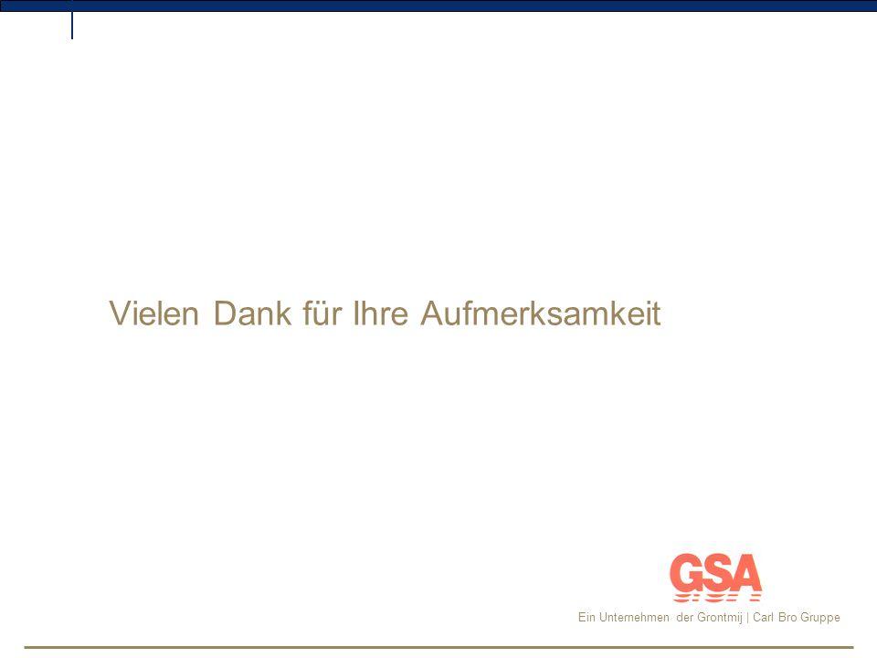 Ein Unternehmen der Grontmij | Carl Bro Gruppe Vielen Dank für Ihre Aufmerksamkeit