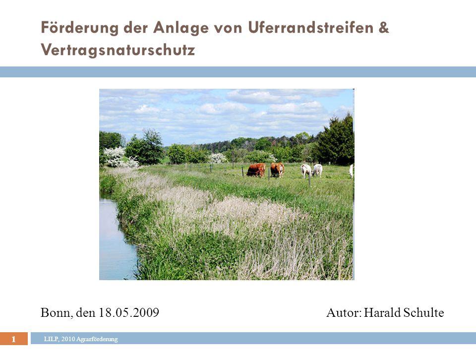 22 LILP, 2010 Agrarförderung Aufteilung der Finanzmittel (Mio.
