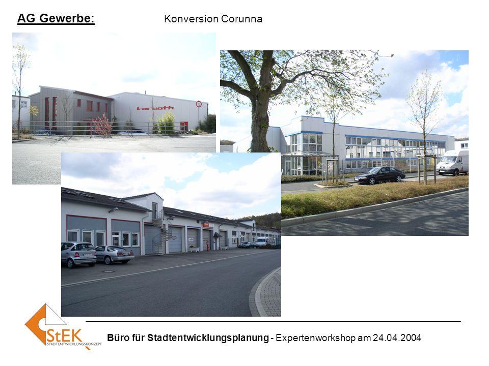 Büro für Stadtentwicklungsplanung - Expertenworkshop am 24.04.2004 AG Gewerbe: Konversion Corunna