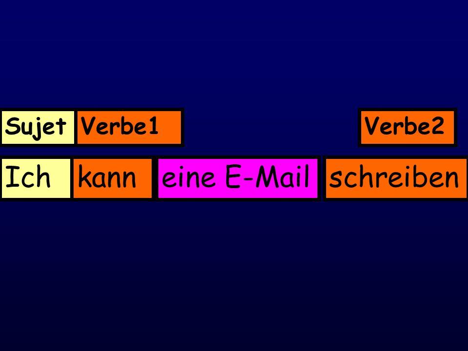 Ichkanneine E-Mailschreiben SujetVerbe1Verbe2