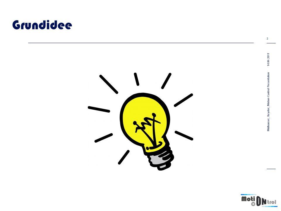 Grundidee 14.06.2011 3 Mülhauser, Beyeler, Motion Control Presentation