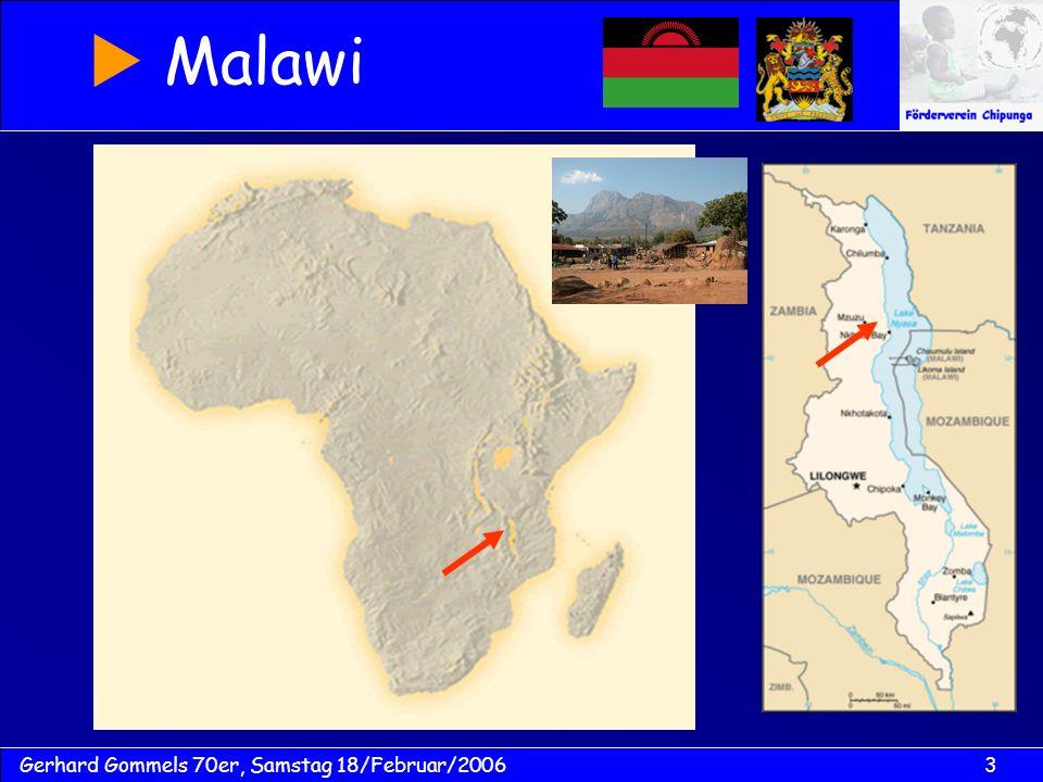 3Gerhard Gommels 70er, Samstag 18/Februar/2006 Malawi