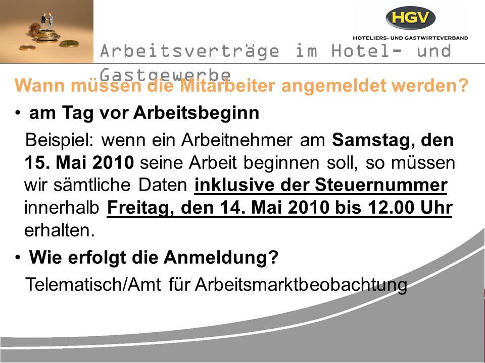 Arbeitsverträge im Hotel- und Gastgewerbe Das Einheitslohnbuch seit 01.