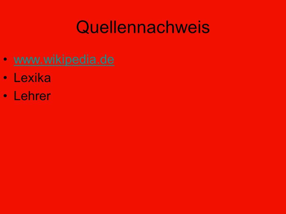 Quellennachweis www.wikipedia.de Lexika Lehrer