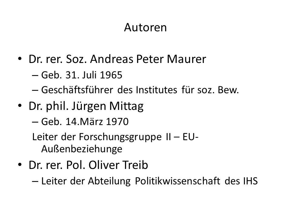 Autoren Dr.rer. Soz. Andreas Peter Maurer – Geb. 31.