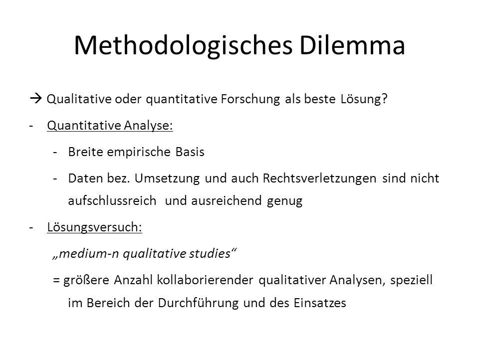 Methodologisches Dilemma Qualitative oder quantitative Forschung als beste Lösung.