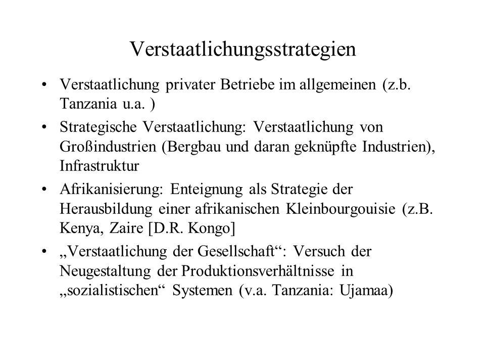 Verstaatlichungsstrategien Verstaatlichung privater Betriebe im allgemeinen (z.b.
