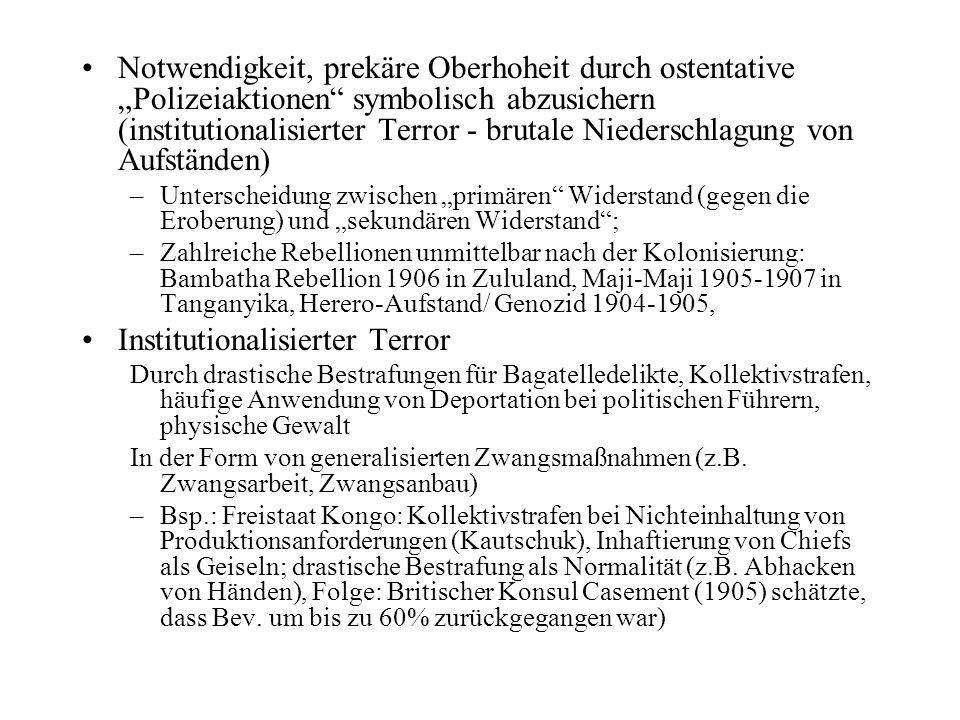 Phasen & Typologie des des Kolonialsstaates (nach Christoph Marx ) Phase 1 (bis 1.