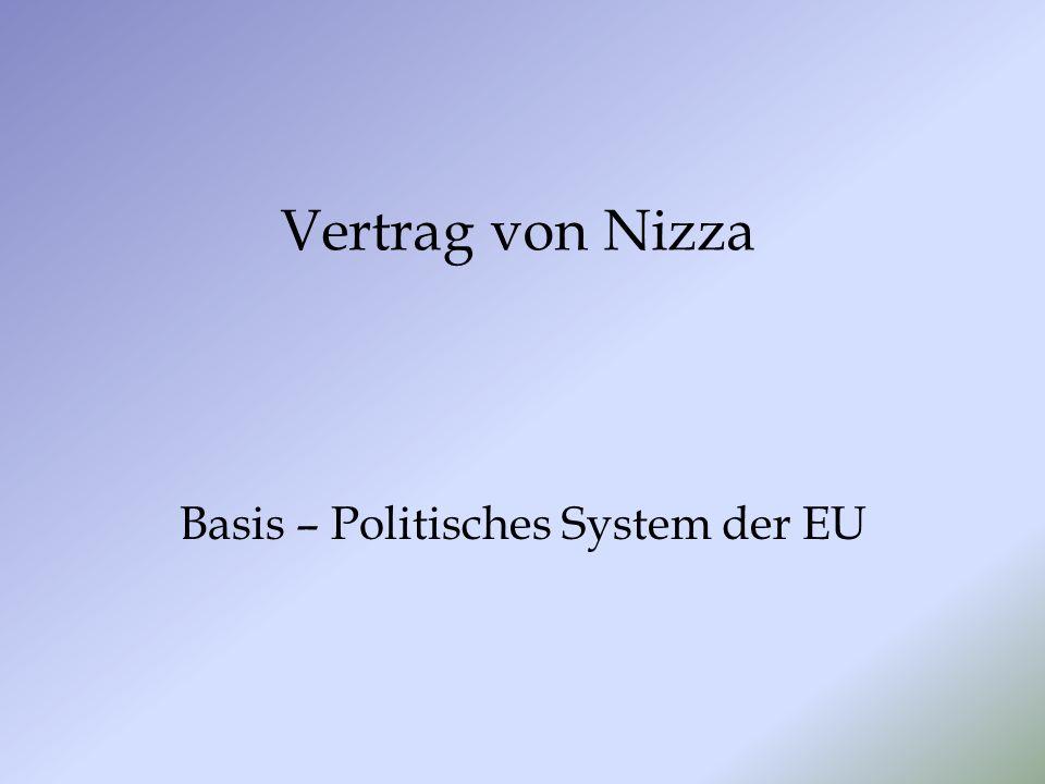 Vertrag von Nizza Basis – Politisches System der EU