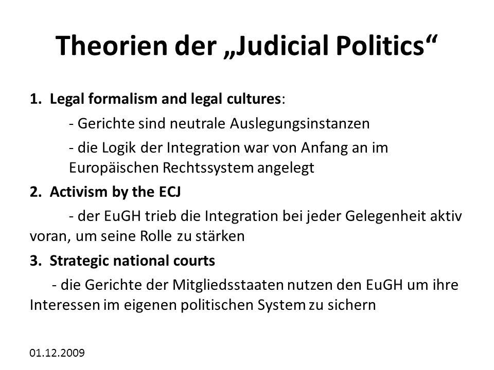 01.12.2009 Theorien der Judicial Politics 1.