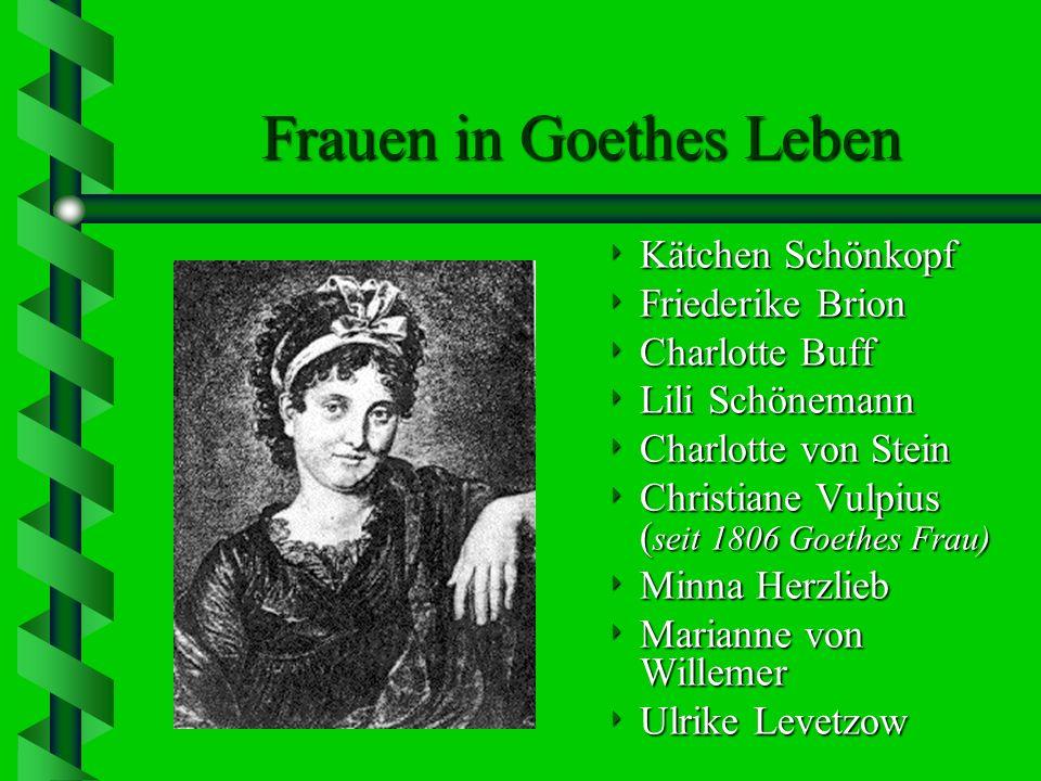 Goethes Lyrik …gehört …gehört zu den höchsten poetischen Leistungen der Weltliteratur die die Poesie begleitete ihn sein ganzes Leben lang: das erste