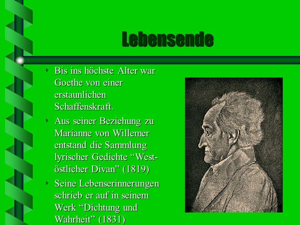 Frauen in Goethes Leben Kätchen Schönkopf Friederike Brion Charlotte Buff Lili Schönemann Charlotte von Stein Christiane Vulpius ( seit 1806 Goethes F