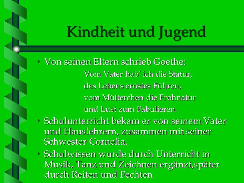 Johann Wolfgang Goethe Deutschlands größter Dichter 28.08.1749-22.03.1832