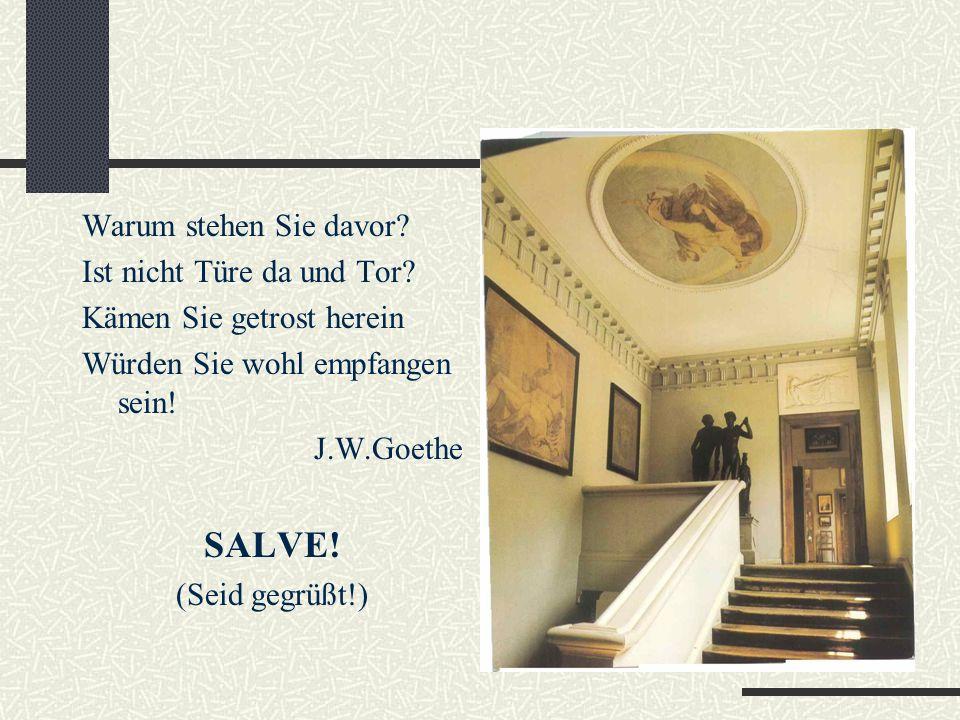 Goethehaus am Frauenplan 50 Jahre lang von 1781 bis zu seinem Tode 1832 hat Goethe im Haus am Frauenplan gelebt.