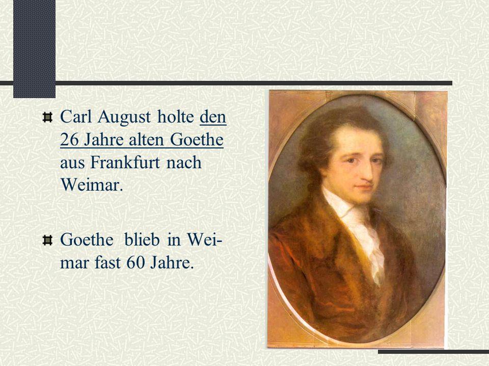 Anna Amalia übergab 1775 die Regierungs- geschäfte ihrem Sohn Carl August.