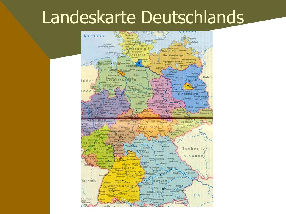Die deutschen Bundesländer Landeshauptstädte und ein Spektrum bedeutender Kennzeichen