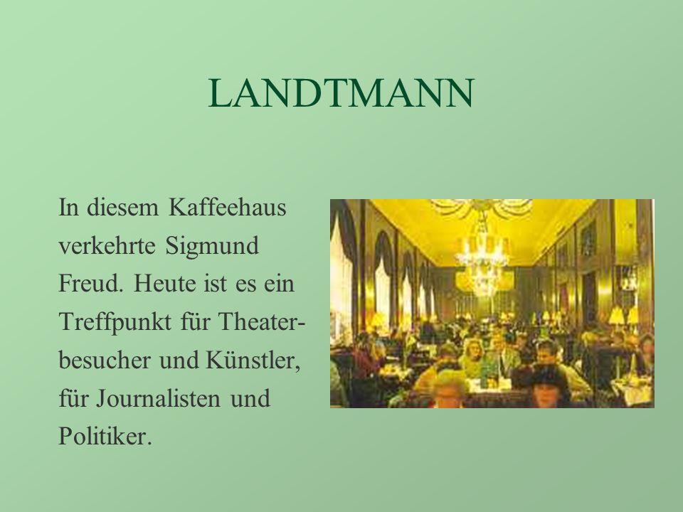 DIE BERÜHMTESTEN KAFFEEHÄUSER: CENTRAL Das schönste Wiener Kaffeehaus, einst ein Treffpunkt für berühmte Schriftsteller und Freidenker.