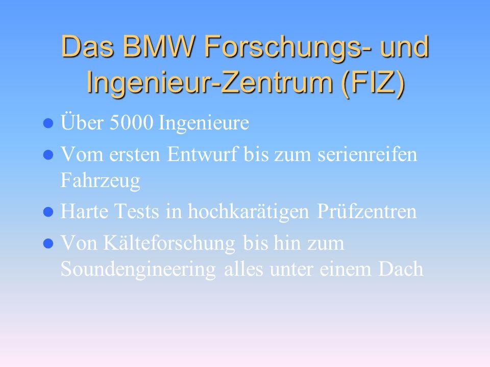 Die technischen Daten 320i 535i 740iL 850Ci Höchstgesch- windigkeit 219 km/h250 km/h 0-100 km/h9,9 s6,9 s7,0 s6,3 s