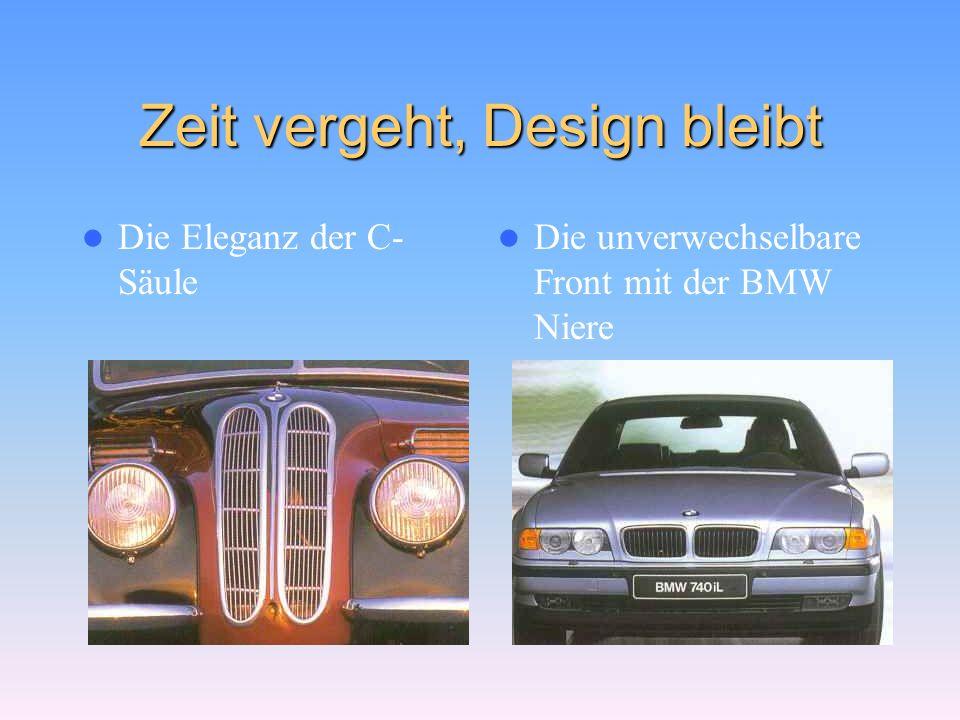 Harmonie – eine Frage der Form Die BMW Limousine 502 V8 von 1954 Die BMW 7er Limousine von 1999