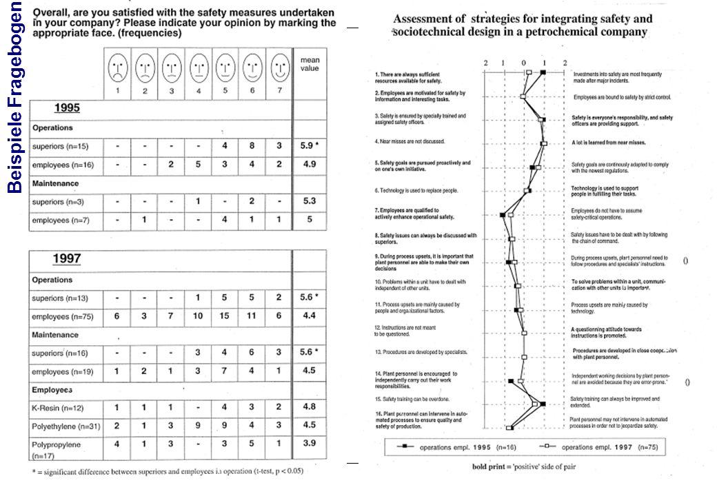 Prof. Dr. Gudela Grote, ETH Zürich VL Risikoverhalten in Arbeitswelt und Alltag FS 2009 Beispiele Fragebogen