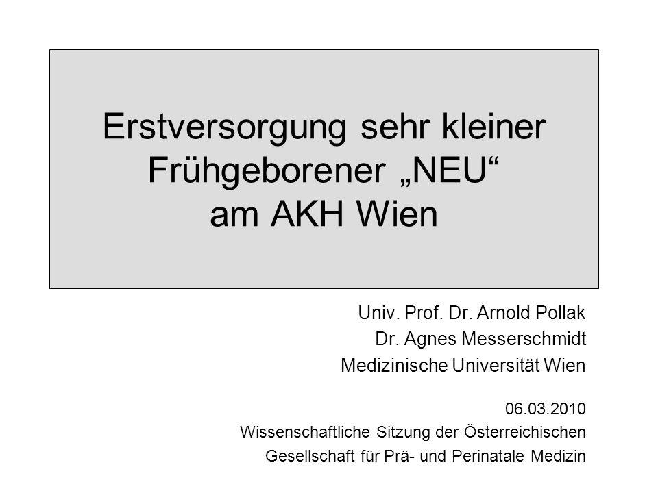 Univ. Prof. Dr. Arnold Pollak Dr. Agnes Messerschmidt Medizinische Universität Wien 06.03.2010 Wissenschaftliche Sitzung der Österreichischen Gesellsc