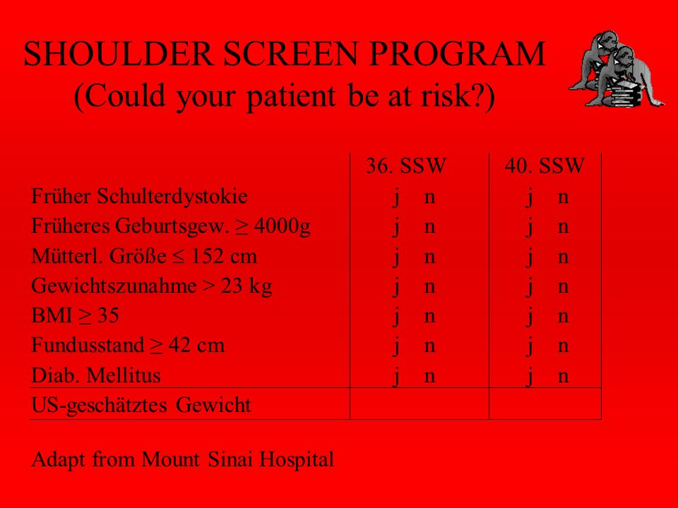 SHOULDER SCREEN PROGRAM (Could your patient be at risk?) 36.