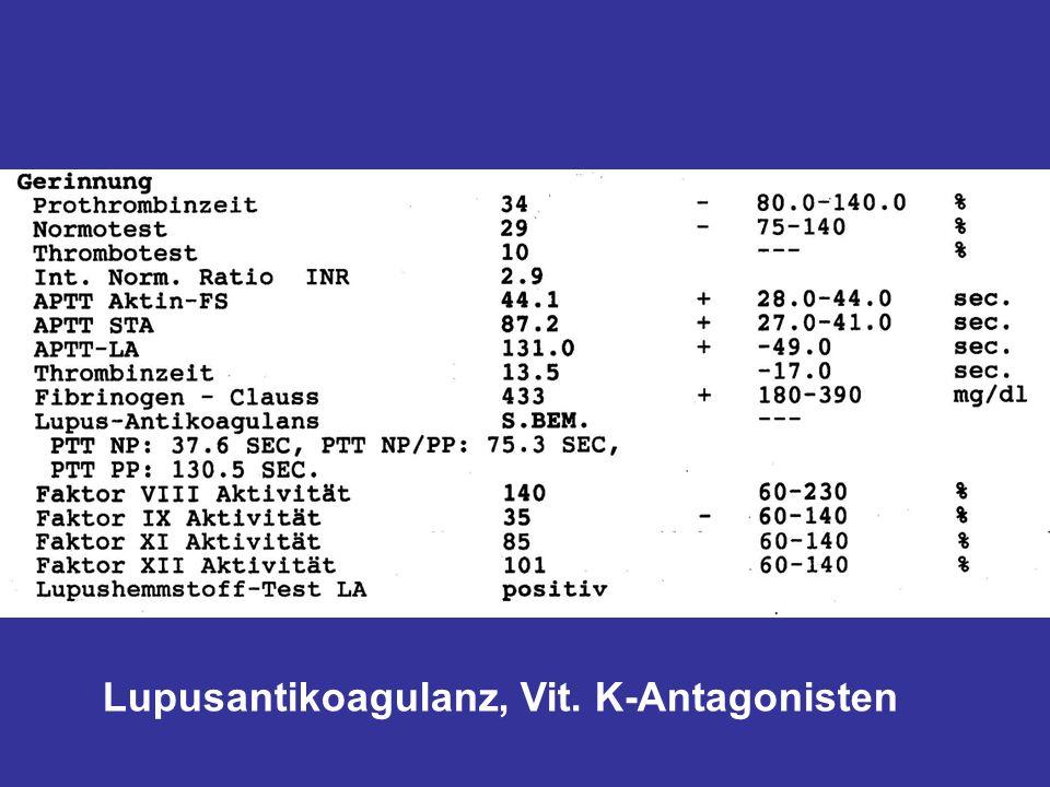 Lupusantikoagulanz, Vit. K-Antagonisten