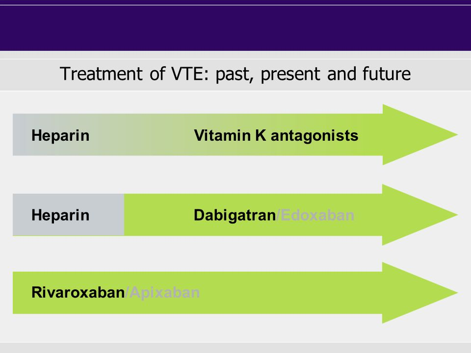 Treatment of VTE acutesubacuteextended up to 2 weeks up to 3 - 6 months> 6 months