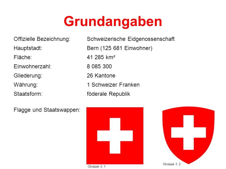Grundangaben Offizielle Bezeichnung:Schweizerische Eidgenossenschaft Hauptstadt:Bern (125 681 Einwohner) Fläche:41 285 km² Einwohnerzahl:8 085 300 Gli