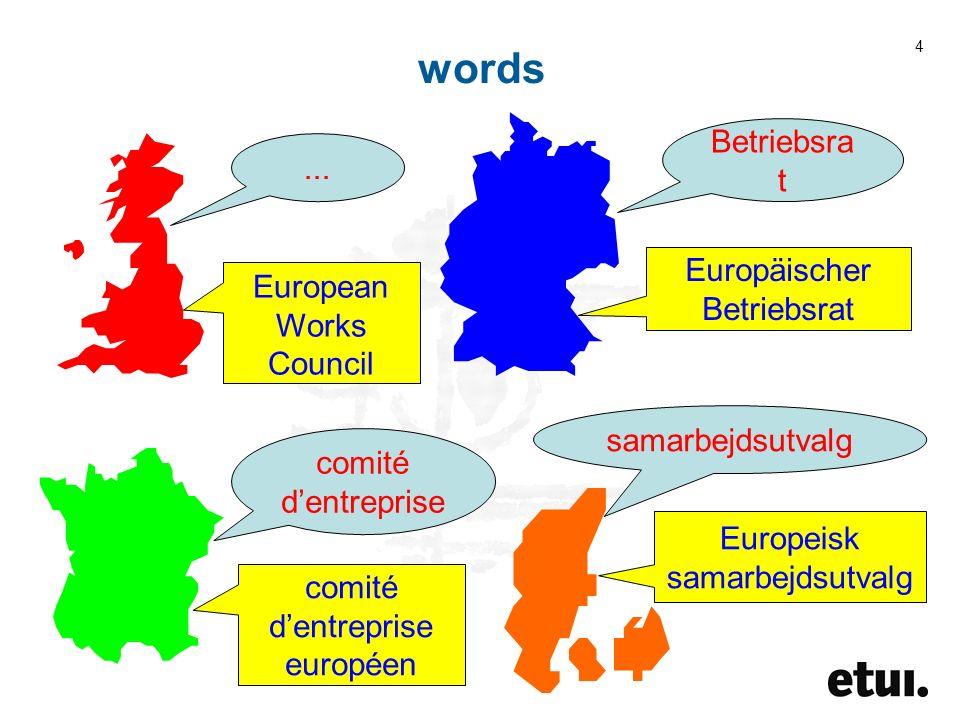 4... European Works Council Betriebsra t Europäischer Betriebsrat comité dentreprise comité dentreprise européen samarbejdsutvalg Europeisk samarbejds