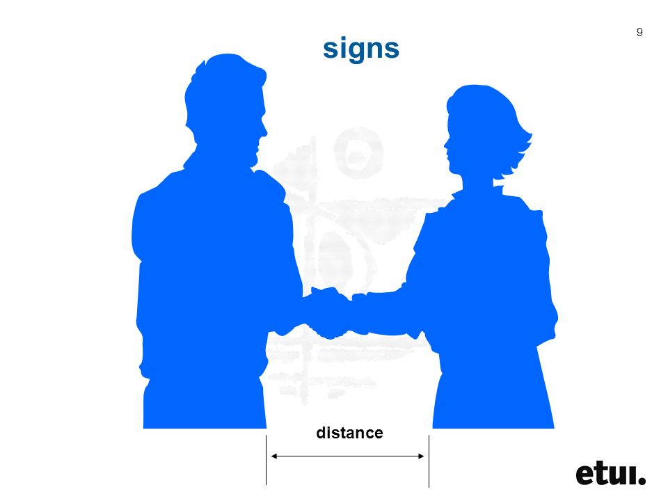 9 signs distance