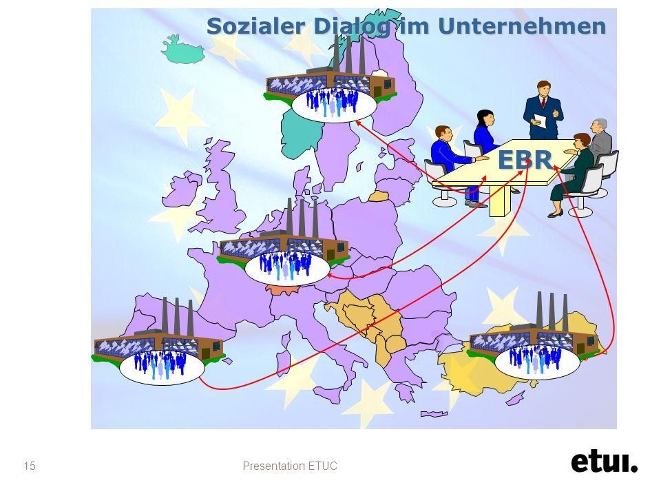 Presentation ETUC 15 EBR Sozialer Dialog im Unternehmen