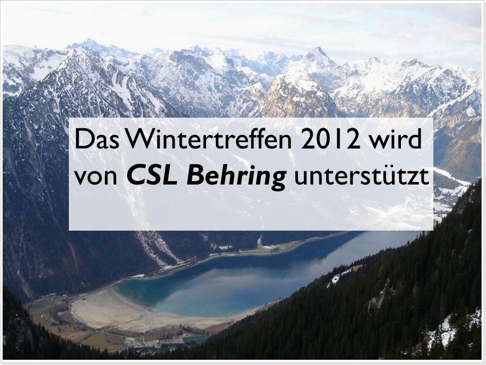 Das Wintertreffen 2012 wird von CSL Behring unterstützt